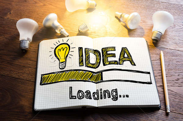 Stock photo: Idea Loading Concept On Notebook