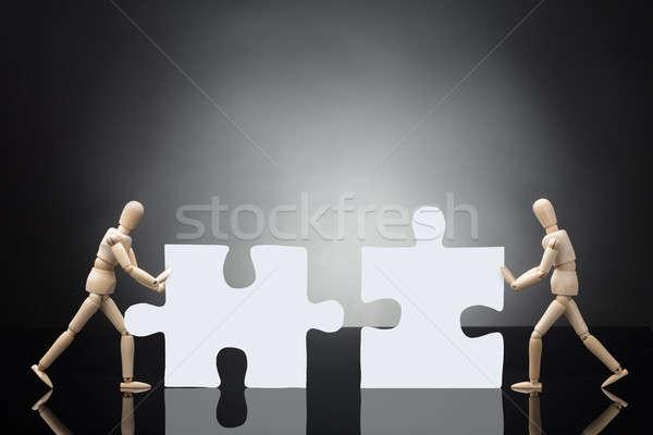 Deux bois blanche gris bois Photo stock © AndreyPopov