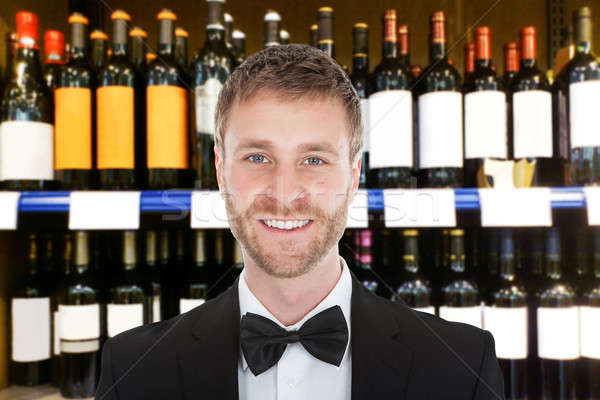Male Bartender Stock photo © AndreyPopov