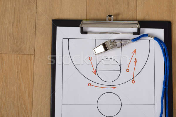 Whistle And Sport Tactics On Paper Stock photo © AndreyPopov