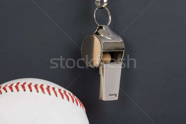 Blackboard With Baseball And Whistle Stock photo © AndreyPopov