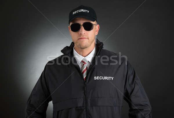 Młodych goryl uniform portret okulary Zdjęcia stock © AndreyPopov
