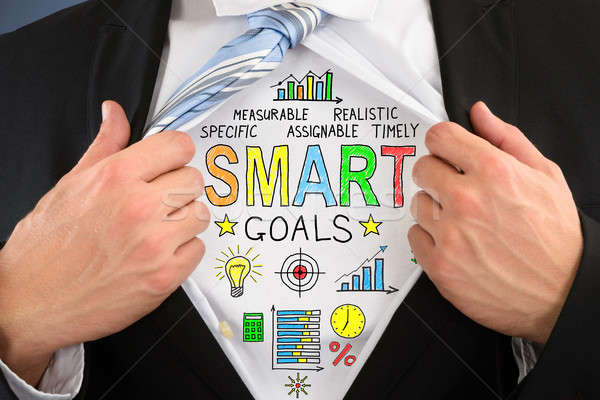 Businessperson Showing Smart Goal Concept On Shirt Stock photo © AndreyPopov