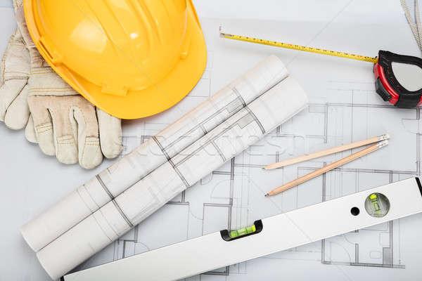 Architectural Equipment On Desk Stock photo © AndreyPopov