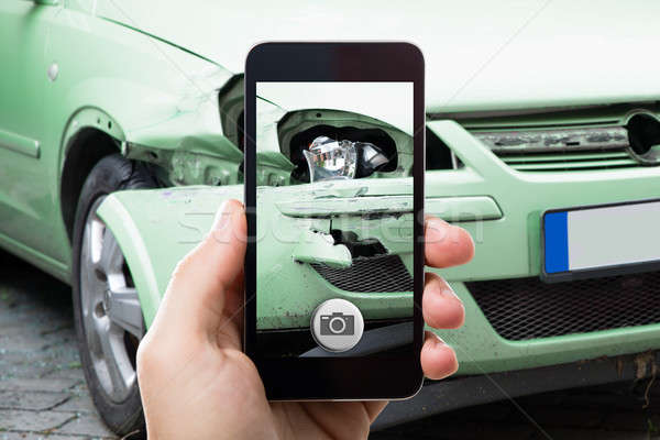 Személy elvesz fotó autó baleset közelkép Stock fotó © AndreyPopov