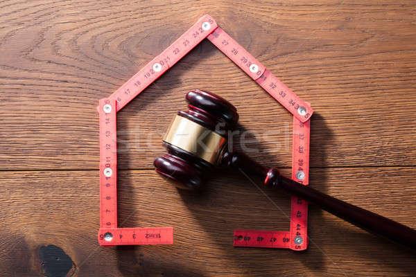 Casa justiça gabela vermelho Foto stock © AndreyPopov