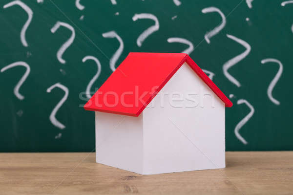 Close-up Of A House Model With Red Roof Stock photo © AndreyPopov