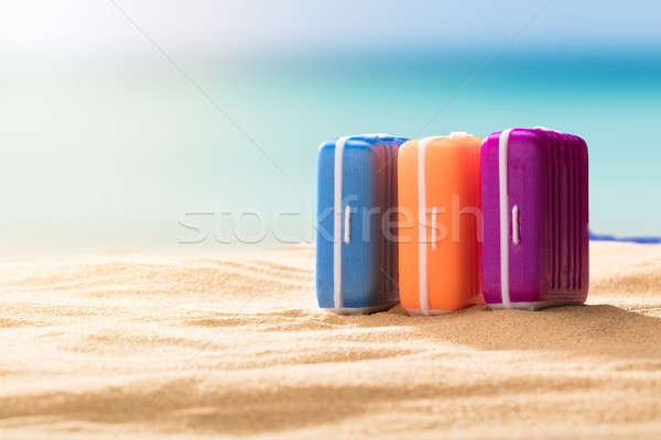 Close-up Of Multi Colored Luggage Stock photo © AndreyPopov