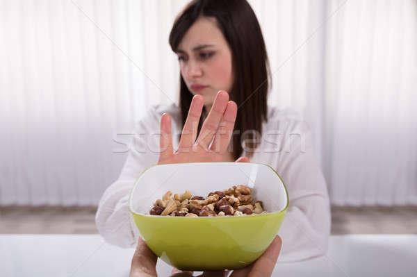 Woman Refusing Nut Food Stock photo © AndreyPopov