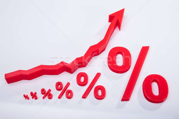 Close-up Of Percentage Symbol And Arrow Sign Stock photo © AndreyPopov