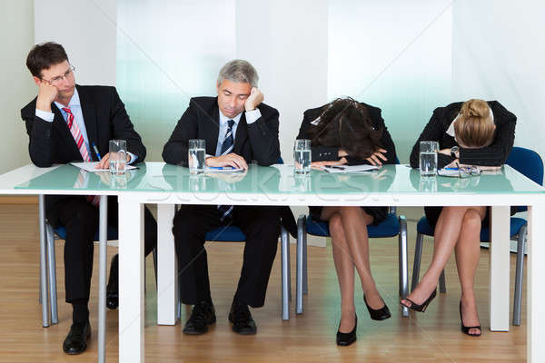Bored panel of judges or interviewers Stock photo © AndreyPopov