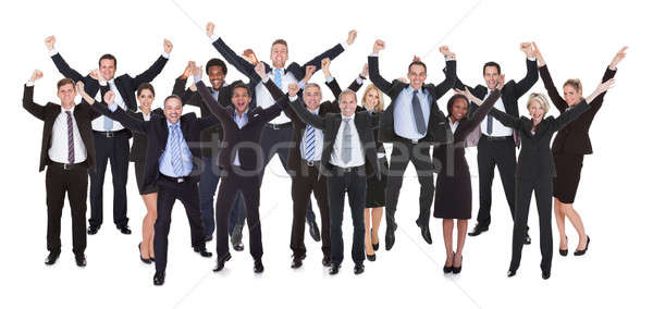 Stock photo: Group Of Business People Raising Arms