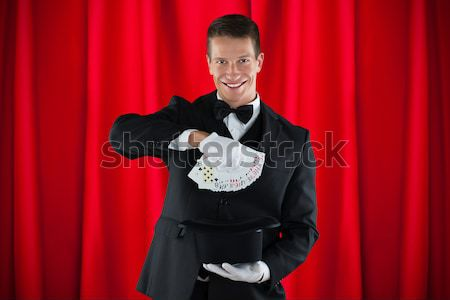 Magician Performs Magic Stock photo © AndreyPopov