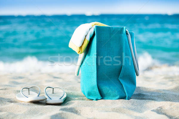 Bag and flip flops Stock photo © AndreyPopov