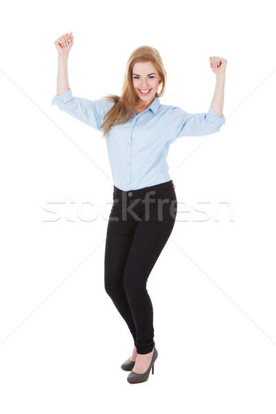 Smiling Ecstatic Woman Stock photo © AndreyPopov