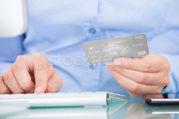 Stok fotoğraf: Kişi · kredi · kartı · iş