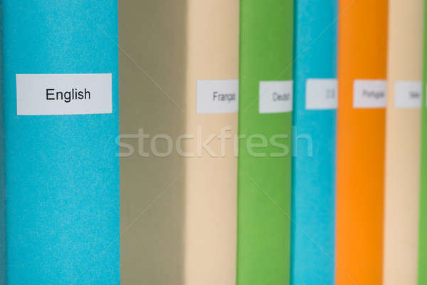 English Language Book Stock photo © AndreyPopov
