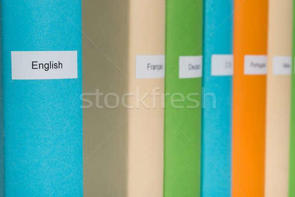 Englisch Sprache Buch blau Business Stock foto © AndreyPopov