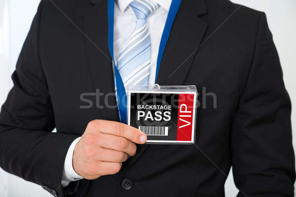Businessman With Backstage Pass Stock photo © AndreyPopov