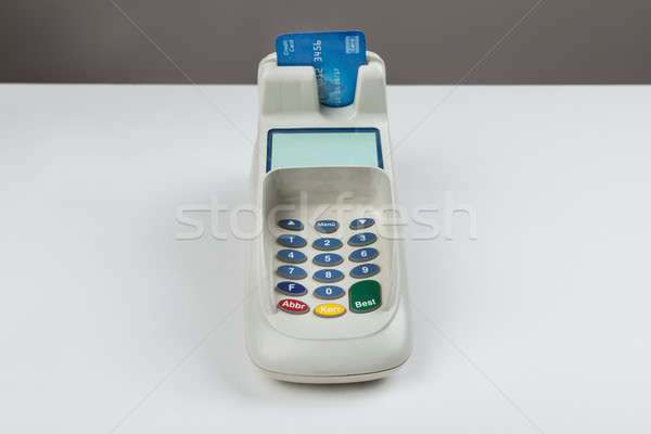 Credit Card With A Card Reader Stock photo © AndreyPopov