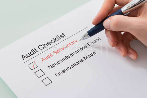 Woman Filling Audit Checklist Form Stock photo © AndreyPopov