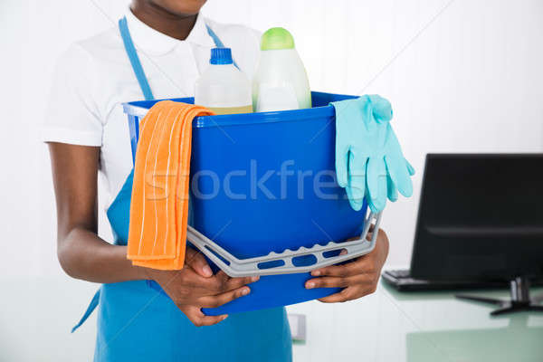 Janitor Holding Cleaning Equipments Stock photo © AndreyPopov