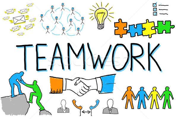 Illustrative Diagram Of Teamwork Concept Stock photo © AndreyPopov