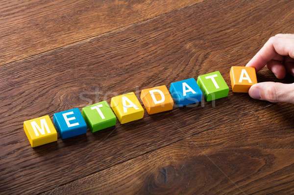 Metadata Concept On Colorful Block Stock photo © AndreyPopov