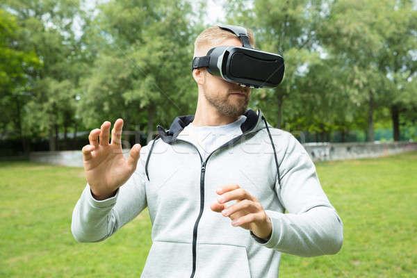 человека виртуальный реальность гарнитура очки Сток-фото © AndreyPopov