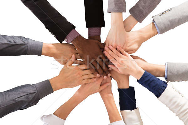 Stock photo: Multi Ethnic Business People Stacking Hands