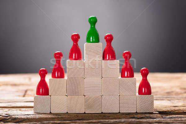 Verde rojo peón primer plano negocios Foto stock © AndreyPopov