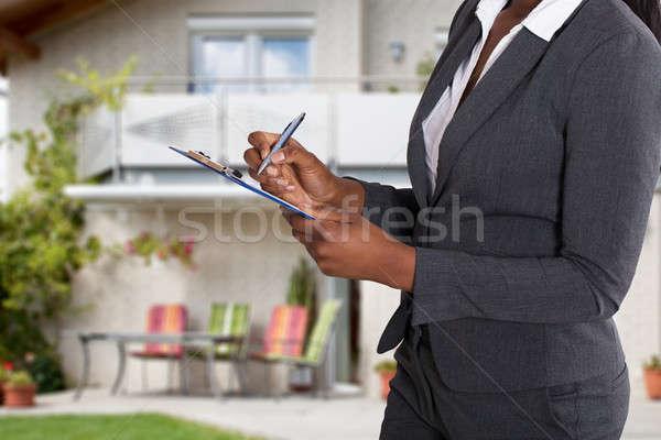 человек заполнение документа дома Сток-фото © AndreyPopov