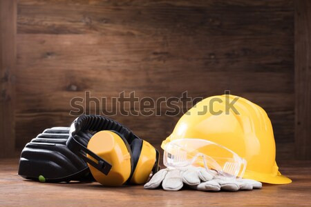 Yellow Hard Hat With Safety Equipment Stock photo © AndreyPopov