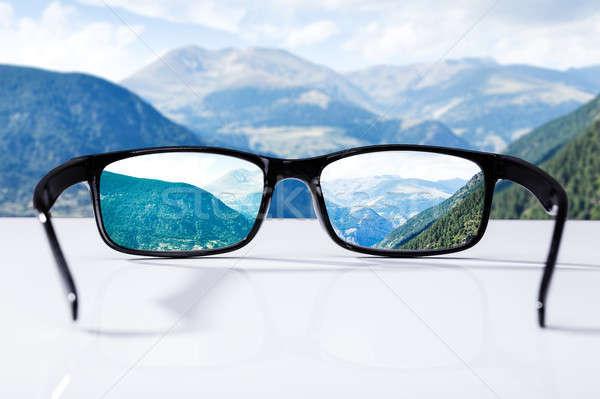 Mountains Seen Through Glasses Stock photo © AndreyPopov