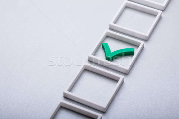 Green Check Mark In Checkbox Stock photo © AndreyPopov