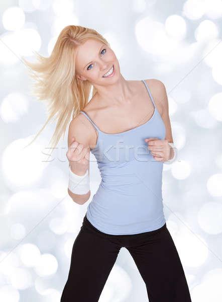 фитнес носить красивая женщина zumba Сток-фото © AndreyPopov