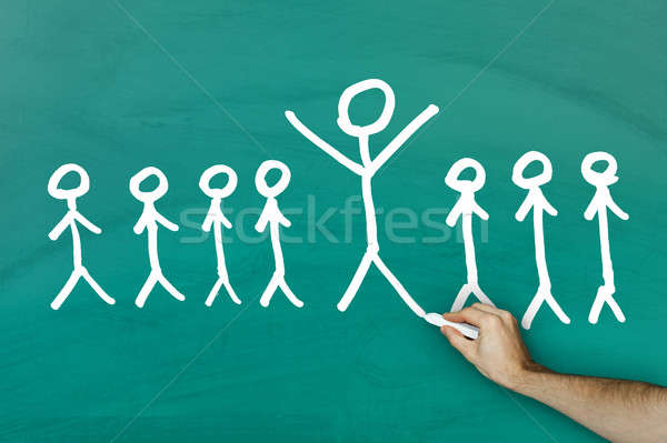 Standing out from crowd concept Stock photo © AndreyPopov