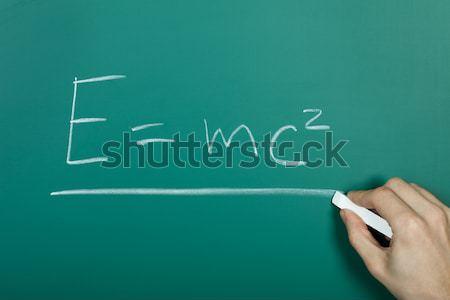 Kéz ír meg toll diák zöld Stock fotó © AndreyPopov