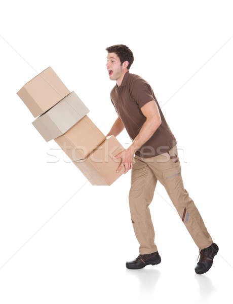 Delivery Man Dropping Boxes Stock photo © AndreyPopov