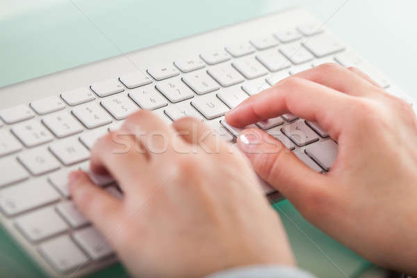 рук набрав клавиатура фото бизнеса Сток-фото © AndreyPopov