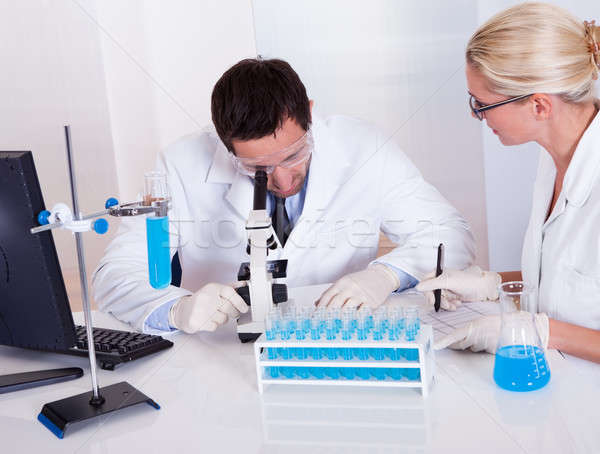 Technologists at work in a laboratory Stock photo © AndreyPopov