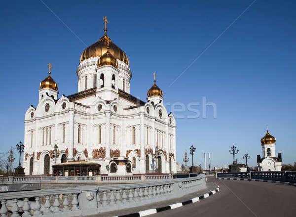 Христа спаситель собора Москва фото Россия Сток-фото © AndreyPopov