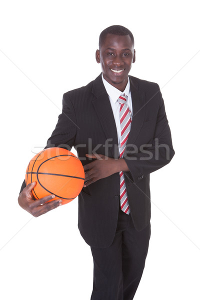 Stock photo: Businessman Playing Basketball