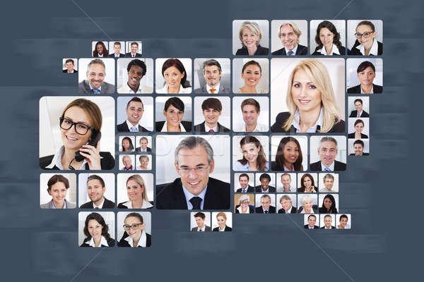 Colagem pessoas de negócios branco mulher homem Foto stock © AndreyPopov