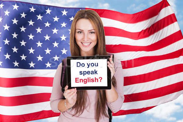 American Woman Asking Do You Speak English Stock photo © AndreyPopov