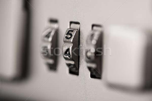 Closeup of briefcase lock Stock photo © AndreyPopov