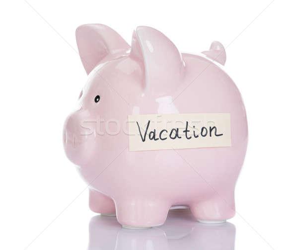 Piggybank With Vacation Label Stock photo © AndreyPopov