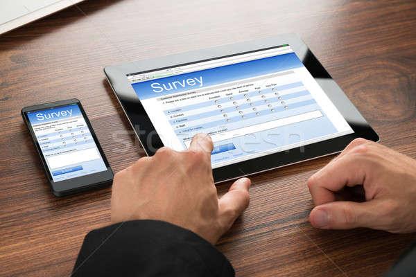 ビジネスマン 充填 調査 フォーム クローズアップ を ストックフォト © AndreyPopov