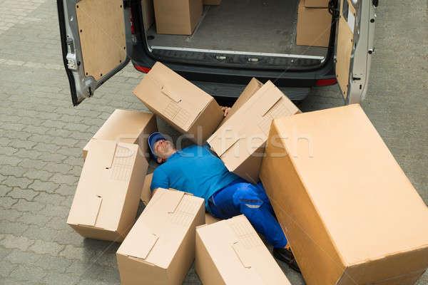 無意識 ワーカー 通り 男性 男 作業 ストックフォト © AndreyPopov