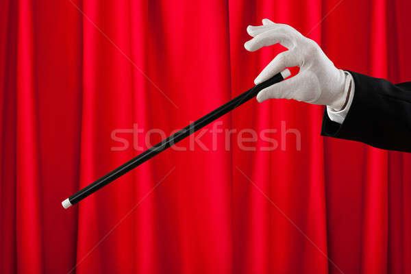 Close-up Of Magician With The Magic Wand Stock photo © AndreyPopov